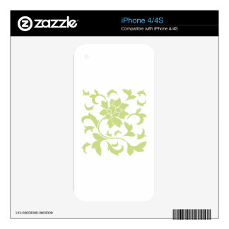 Oriental Flower - Daiquiri Green Skin For iPhone 4