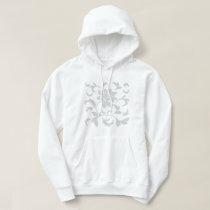 Oriental Flower-Gray Hoodie