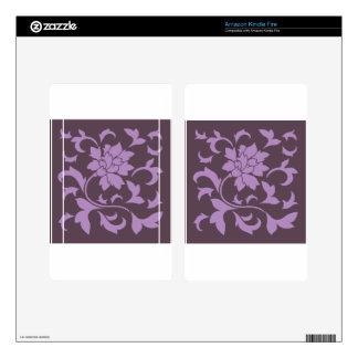 Oriental Flower - Lilac & Cherry Chocolate Kindle Fire Skin