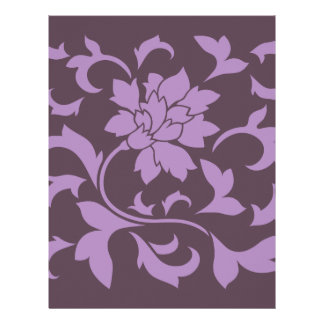 Oriental Flower - Lilac & Cherry Chocolate Letterhead