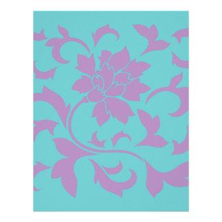 Oriental Flower - Lilac Mint Letterhead