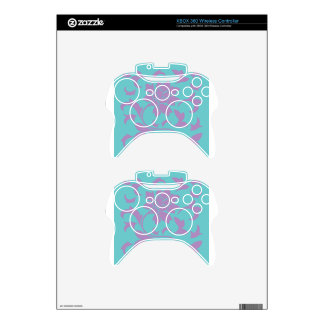Oriental Flower - Lilac Mint Xbox 360 Controller Skins