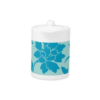 Oriental Flower - Limpet Shell - blue Teapot