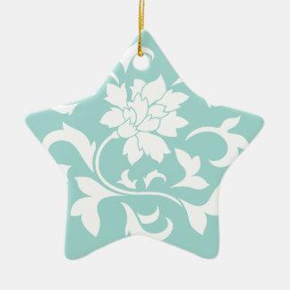 Oriental Flower - Limpet Shell Ceramic Ornament