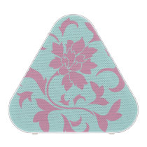 Oriental Flower - Limpet Shell Circular Pattern Bluetooth Speaker