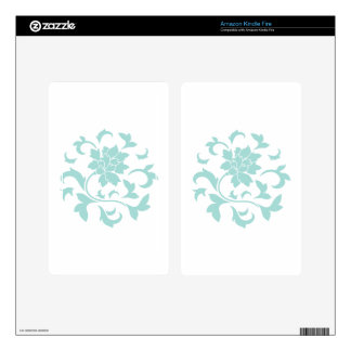 Oriental Flower - Limpet Shell Circular Pattern Kindle Fire Decals