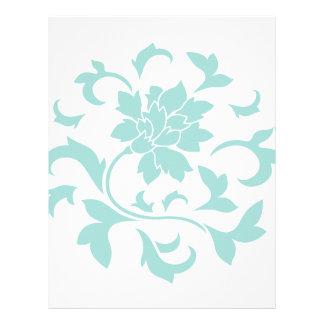 Oriental Flower - Limpet Shell Circular Pattern Letterhead