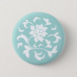 Oriental Flower - Limpet Shell Circular Pattern Pinback Button