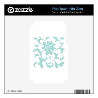 Oriental Flower - Limpet Shell Decals For iPod Touch 4G