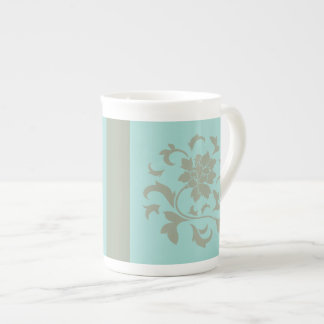 Oriental Flower - Limpet Shell - Olive Green Tea Cup