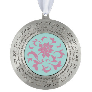 Oriental Flower - Limpet Shell - Pink Pewter Ornament