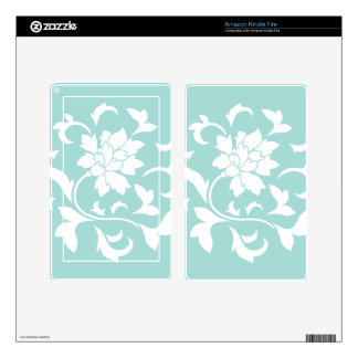 Oriental Flower - Limpet Shell Skin For Kindle Fire