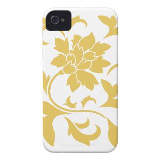 Oriental Flower - Mustard Yellow Case-Mate iPhone 4 Case