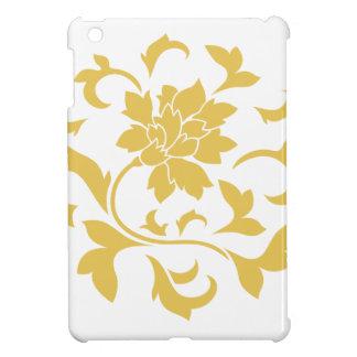 Oriental Flower - Mustard Yellow Circular Pattern Case For The iPad Mini