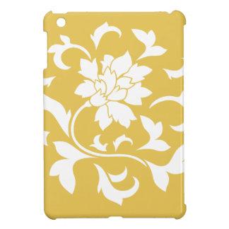 Oriental Flower - Mustard Yellow Circular Pattern Cover For The iPad Mini