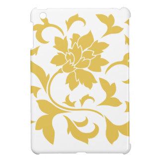 Oriental Flower - Mustard Yellow iPad Mini Cover