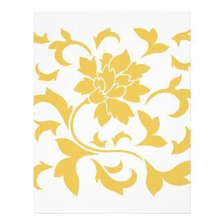 Oriental Flower - Mustard Yellow Letterhead