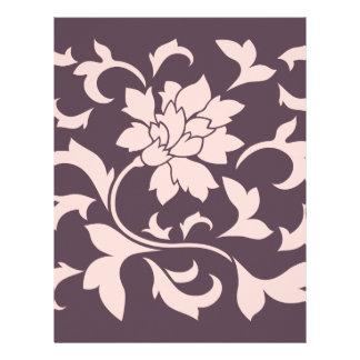 Oriental Flower - Rose Quartz & Cherry Chocolate Letterhead