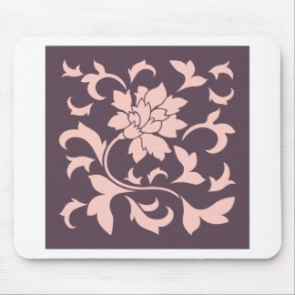 Oriental Flower - Rose Quartz & Cherry Chocolate Mouse Pad