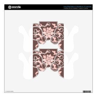 Oriental Flower - Rose Quartz & Chocolate PS3 Controller Decals