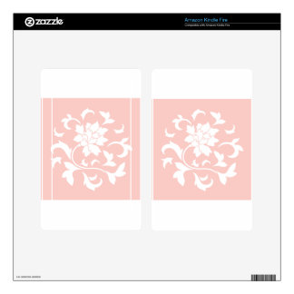 Oriental Flower - Rose Quartz Circular Pattern Kindle Fire Decals