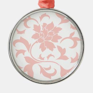 Oriental Flower - Rose Quartz Metal Ornament