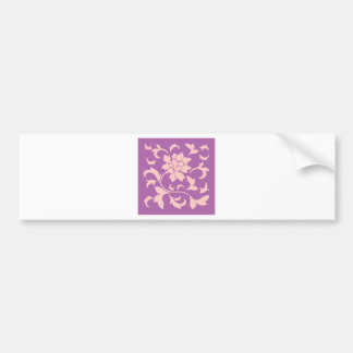 Oriental Flower - Rose Quartz & Radiant Orchid Bumper Sticker