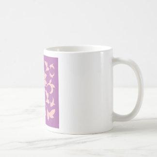 Oriental Flower - Rose Quartz & Radiant Orchid Coffee Mug