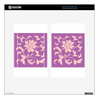 Oriental Flower - Rose Quartz & Radiant Orchid Kindle Fire Decals