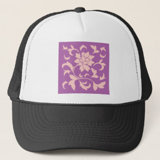 Oriental Flower - Rose Quartz & Radiant Orchid Trucker Hat
