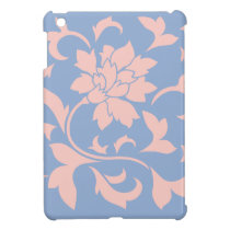 Oriental Flower - Rose Quartz & Serenity Blue iPad Mini Case