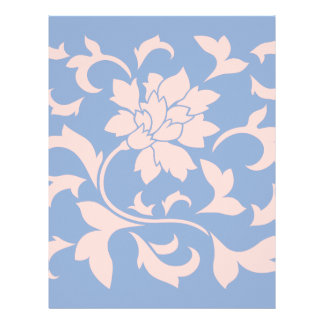 Oriental Flower - Rose Quartz & Serenity Blue Letterhead