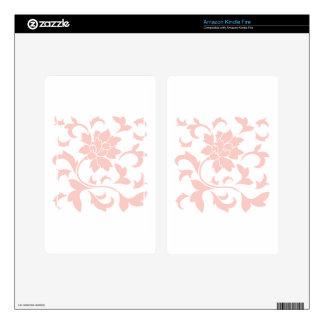 Oriental Flower - Rose Quartz Skin For Kindle Fire