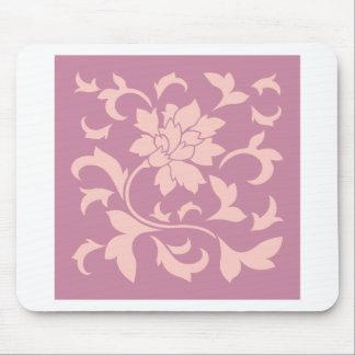 Oriental Flower - Rose Quartz & Strawberry Mouse Pad