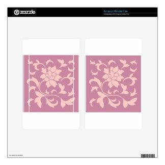 Oriental Flower - Rose Quartz & Strawberry Skin For Kindle Fire