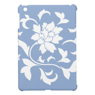 Oriental Flower - Serenity Blue Circular Pattern Cover For The iPad Mini