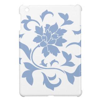Oriental Flower - Serenity Blue Circular Pattern iPad Mini Case