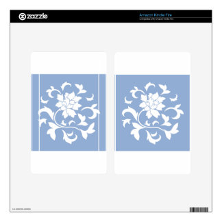Oriental Flower - Serenity Blue Circular Pattern Kindle Fire Skin