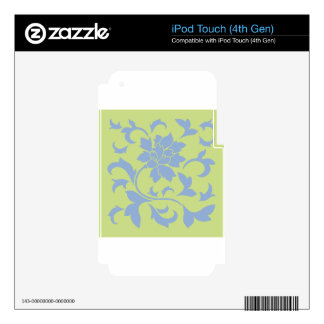 Oriental Flower - Serenity Blue & Daiquiri Green iPod Touch 4G Skin