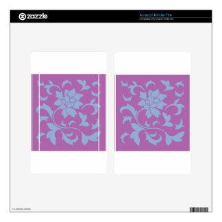 Oriental Flower - Serenity Blue & Radiant Orchid Kindle Fire Skins