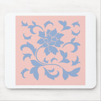Oriental Flower - Serenity Blue & Rose Quartz Mouse Pad