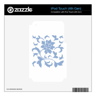 Oriental Flower - Serenity Blue Skins For iPod Touch 4G