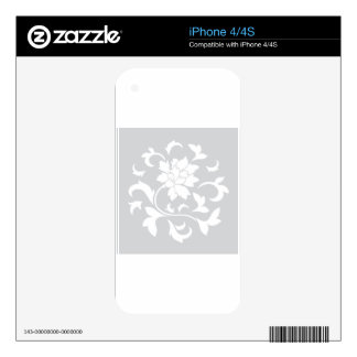 Oriental Flower - Silver Circular Pattern Decal For iPhone 4
