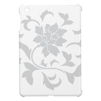 Oriental Flower - Silver Circular Pattern iPad Mini Cases