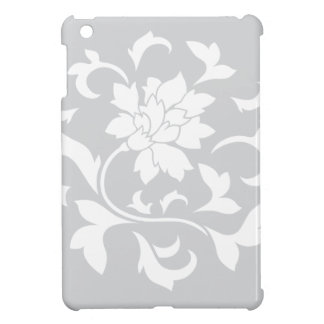 Oriental Flower - Silver Circular Pattern iPad Mini Cover