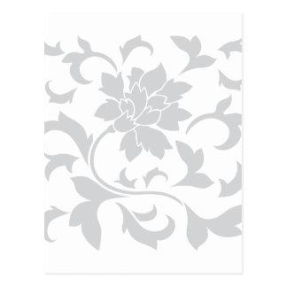 Oriental Flower - Silver Postcard