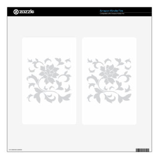 Oriental Flower - Silver Skins For Kindle Fire