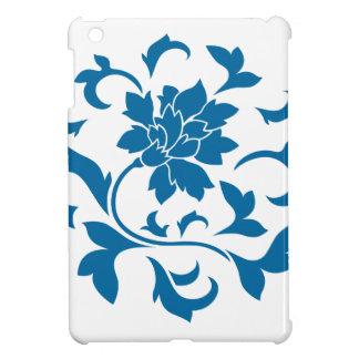 Oriental Flower - Snorkel Blue Circular Pattern iPad Mini Case