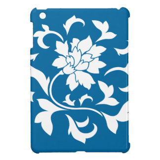 Oriental Flower - Snorkel Blue Circular Pattern iPad Mini Cover