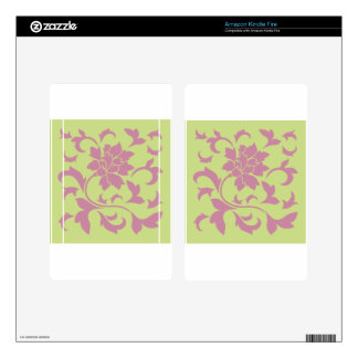 Oriental Flower - Strawberry & Daiquiri Green Lime Decals For Kindle Fire